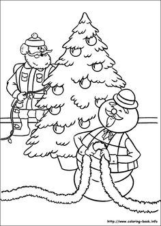 Rudolph the Red-Nosed Christmas Reindeer Coloring Pages / Free Printable Coloring Pages for Kids - Coloring Books Rudolph Coloring Pages, Cartoon Coloring Pages, Coloring Book Pages, Christmas Coloring Sheets, Coloring Sheets For Kids, Kids Coloring, Christmas Colors, Christmas Themes, Christmas Characters