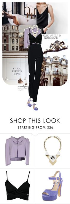 """""""going downtown for a glass of wine."""" by mademoiselledeea ❤ liked on Polyvore featuring La Vie en Rose, Alex Vidal, Miss Selfridge, Steve Madden, StreetStyle, wine, fashionset and thepantsuit"""