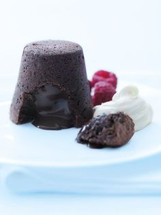 Cheat's Chocolate Fondant. This wonderfully decadent dessert looks impressive but it's super-simple to make!