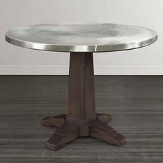 Refined Aluminum Table by Bassett Furniture Table Desk, Table And Chairs, Dining Tables, Dining Rooms, Aluminum Table, Brown Wood, Apartment Design, Dining Furniture, Restaurant Design