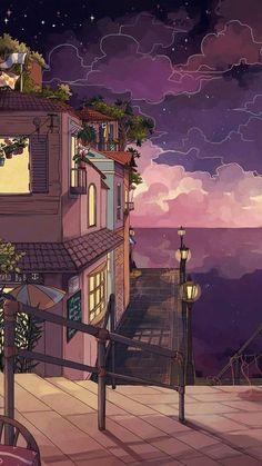 Anime Scenery Wallpaper, Aesthetic Pastel Wallpaper, Aesthetic Backgrounds, Wallpaper Backgrounds, Aesthetic Wallpapers, Homescreen Wallpaper, Trendy Wallpaper, Wallpaper Wallpapers, Colorful Wallpaper