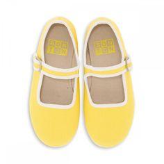 Chaussons jaune lennon - Chaussons Filles - BONTON 1