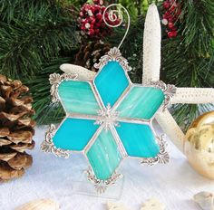 Beach Cottage Snowflake  Ships in13 business by MoreThanColors, $32.95