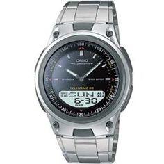 Relógio Masculino Anadigi Casio Standard AW-80D-1AV - Inox/Preto