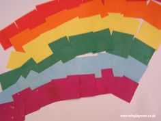 Easy rainbow craft for toddlers to do