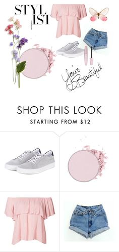 """pink spring outfit"" by siiniiii ❤ liked on Polyvore featuring Barbour, Levi's, Forever 21, Pink, polyvorefashion and Spring2017"