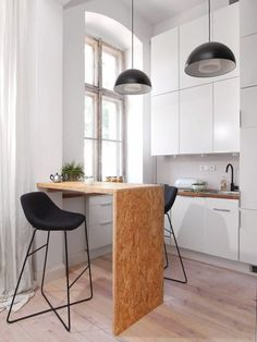 The kitchenette is very comfortable. a lot of s . Studio Apartment Living, Small Apartment Interior, Small House Interior Design, Studio Apartment Decorating, Kitchenette, Kitchen Decor, Kitchen Design, Plywood Interior, Plywood Kitchen