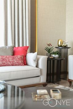 Pillows,fabrics and sofas.. Details in livingroom .. Design by Gonye Project & Design