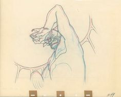 Production Drawing Of Chernabog from Fantasia