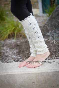 Pointelle Cream leg warmers with knit lace by SimplySweetbySarah Knit Lace, Lace Knitting, Knit Leg Warmers, Best Wear, Boot Socks, Stretch Lace, Hosiery, Lace Trim, Tights