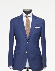 Tailored 2-Piece Suit - Fabric 3845 Houndstooth Blue