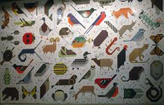 GRAPHIC AMBIENT » Blog Archive » Space For All Species Mural, USA - Charley Harper mural