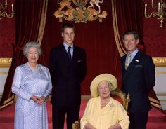 Four generations. The Queen Mother, Queen Elizabeth II, Prince Charles, and Prince William. Hm The Queen, Royal Queen, Her Majesty The Queen, Windsor, Queen Of England, England Uk, Queen Mother, Princess Margaret, British Monarchy