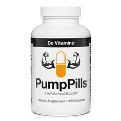 PumpPills - Do Vitamins - PumpPills can amplify your pre-workout supplement (whichshould totally bePurePumpif it isn't yet) by stacking the key ingredients that contribute to increased nitric oxide production and muscular endurance– Citrulline, Arginine, Beta-Alanine, Malic Acid – all without adding more caffeineor other stimulants. #certifiedpaleo #paleo #vegan #paleovegan