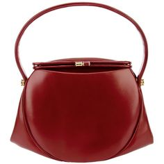 LANCEL VINTAGE 'Retro Bordeaux' handbag ($920) ❤ liked on Polyvore