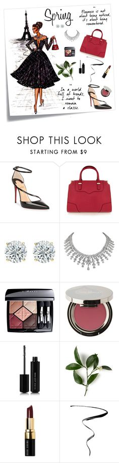"""Spring is Coming!"" by ljano ❤ liked on Polyvore featuring Christian Louboutin, Rebecca Minkoff, Christian Dior, Juice Beauty, Marc Jacobs, Bobbi Brown Cosmetics and springdresses"