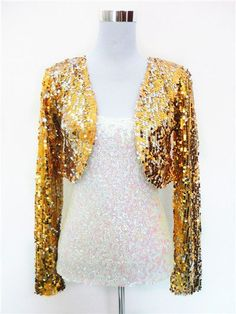 16d705a8c84 2015 New fashion sequins waistcoat y sequined long sleeve short costume  jacket… Gender