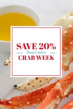 Don't miss the boat! Crab Week and all of its tasty savings are sailing away after tomorrow. Order now before it's too late and get 20% off all crab🦀 dishes with promo code CRABWEEK #LobsterGram #CrabWeek Lobster Gram, Lobster Pot Pies, Crab Legs For Sale, Frozen Lobster Tails, Shrimp Cocktail Sauce, Maryland Style Crab Cakes, Alaskan King Crab, Filet Mignon Steak, Crab Dishes