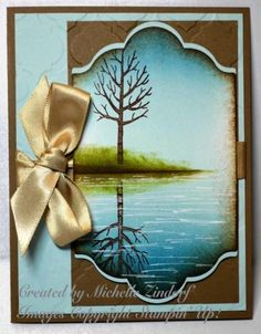 All Occasion Reflection Card created by Michelle Zindorf with Stampin' Up! Products