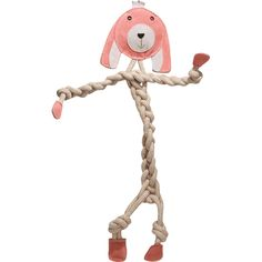Rope Knotties - Bunny - Regular    Rope Knotties are the perfect toy for dogs that love to chew and tug! Made with an all-natural blend of cotton and hemp, each toy is super durable and great for tuggin' and tossin'! Also helps develop an interactive bond between dog and owner!