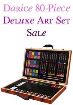 Darice 80-Piece Deluxe Art Set Sale: $11.97!  {the perfect gift for anyone who loves drawing or painting!}