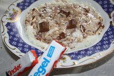 Rice pudding with Kinder chocolate :)