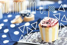 Roasted Blueberry & Lemon Cupcake w. Cream Cheese & Blueberry Jam #recipe