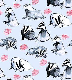 Portfolio | Jen Moules Textile Design Badgers
