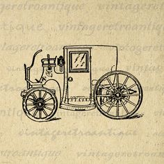 Printable Antique Automobile Old Fashioned Car Image Graphic Digital Download Vintage Clip Art. Vintage digital graphic for fabric transfers, printing, tea towels, tote bags, t-shirts, and more. This image is large and high quality, size 8½ x 11 inches. Transparent background version included with every digital image.