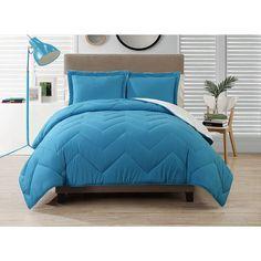 CJ BREEZE by Caribbean Joe Down-Alternative Chevron-Stitched Reversible Bedding Comforter Set, Multiple Colors Available Sale