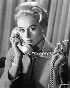 Tippi Hedren in Hitchcock's The Birds (1963).