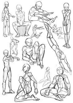 Body Kun amp Body Chan Manga Figuren z. Body Reference Drawing, Body Drawing, Anatomy Drawing, Drawing Base, Art Reference Poses, Human Sketch, Drawing Sketches, Drawings, Figure Sketching
