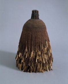 Mary Giles |  High Mesa. Waxed linen, metal; handwoven
