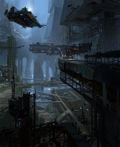City underground level docks
