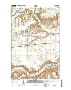 ~ Tunis MT topo map, 1:24000 scale, 7.5 X 7.5 Minute, Current, 2014