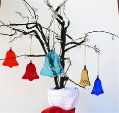 Decoration of the year 2014, brightly coloured Christmas Bells