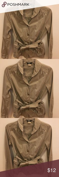 JCrew Jacket Selling a J.Crew light tan jacket! Perfect for a fall day! In great condition. Size 2. J. Crew Jackets & Coats