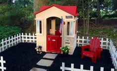 Little Tikes Kids Playhouse makeover!