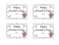 Here are some fun Mother's Day tags that are the perfect addition to all your kiddos sweet Mother's Day gifts!  Here you can get these tags in five...