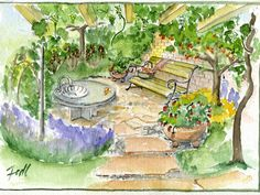 Garten- und Landschaftsplanung Parks, Gardening, Painting, Private Garden, Landscape Architecture, Garten, Painting Art, Lawn And Garden, Paintings