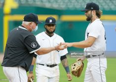 News Photo : Daniel Norris of the Detroit Tigers is pulled by... Mlb Pitchers, Detroit Tigers, Management, Baseball Cards, News