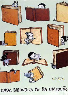 Cada biblioteca te da un sueño  / Noemí Villamuza [19--?]