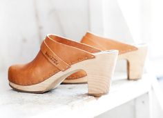 Swedish Hasbeens Slip-On ($230): Slip on these caramel clogs and you're out the door in seconds, looking as polished as ever. Run your errands or dash from bar to bar in this lovely pair. (via Garance Dore)