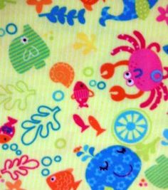 Anti- Pill Fleece Fabric- Under The Sea Stripe