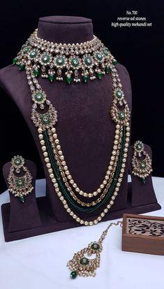 Kundan Jewellery Set, Fancy Jewellery, Wedding Jewellery Designs, Wedding Jewelry Sets, Bridal Necklace Set, Bridal Bangles, Indian Bridal Jewelry Sets, Pearl Necklace Designs, Bridal Dupatta
