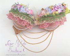 Fairy Blossom Bra by lunarnymphs on Etsy, $66.00