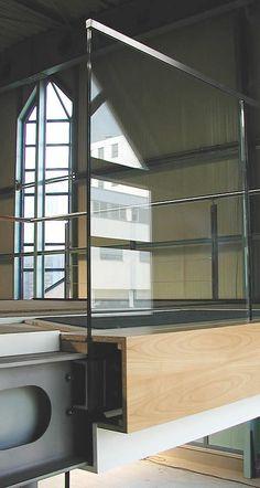 syscon | detalles de construccion | barandillas | vidrio empotrada