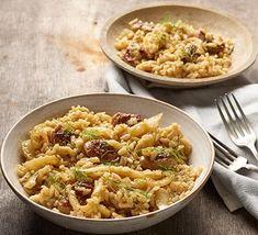 Sausage & fennel risotto Sausage Risotto Recipe, Risotto Recipes, Sausage Recipes, Bbc Good Food Recipes, Rice Recipes, Veggie Recipes, Cooking Recipes, Healthy Recipes, Risotto