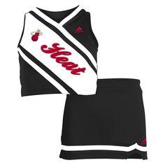 adidas Miami Heat Toddler Girls 2-Piece Cheerleader Set - Black/White - $27.19