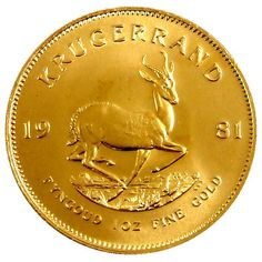 Gold Krugerrand from South Africa by SGBullion on Etsy, $166.50 1/10 oz to 1 full oz available